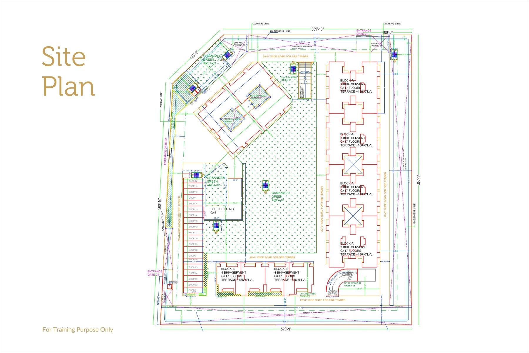 Site Plan Noble Callista Mohali
