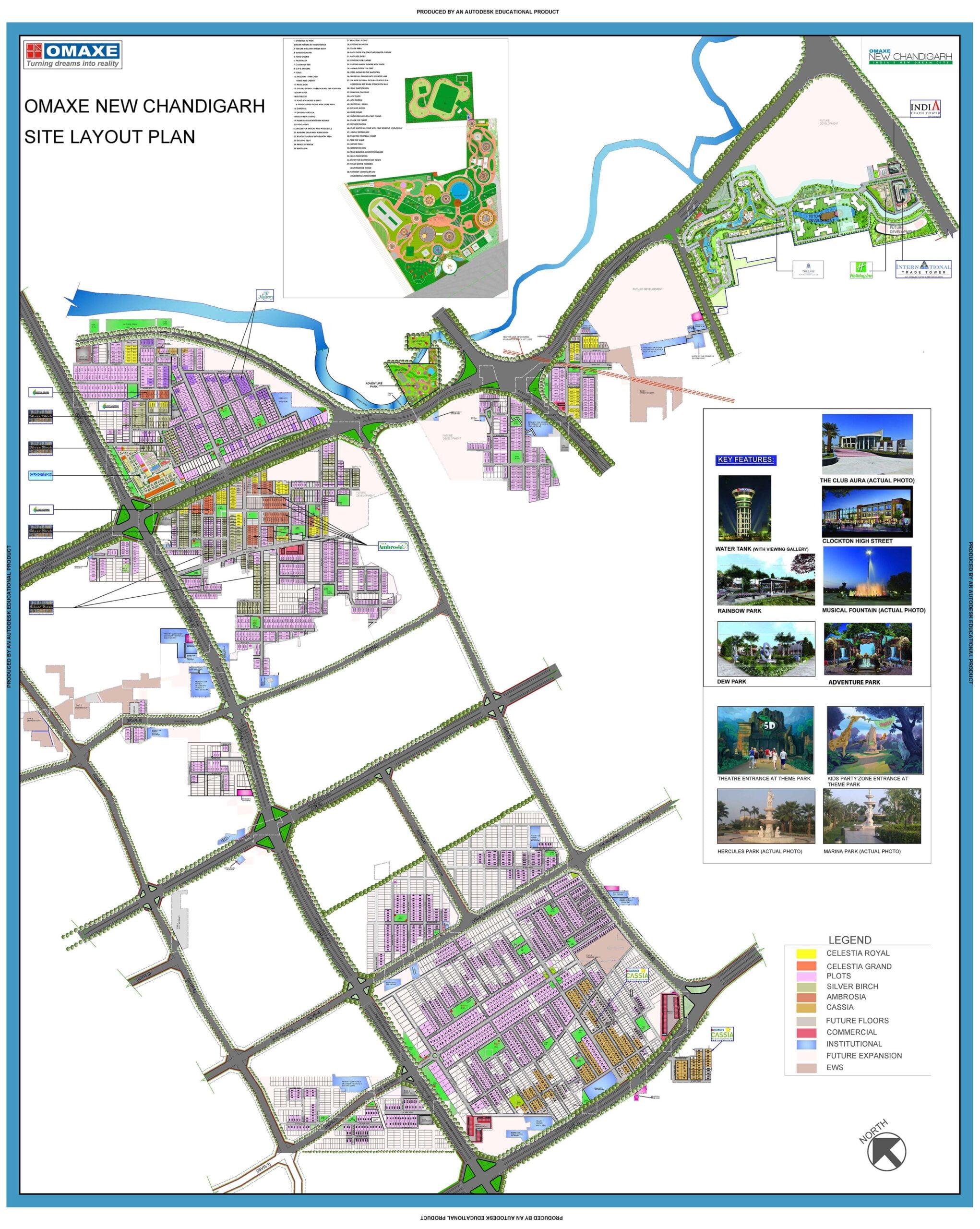 omaxe cassia site plan